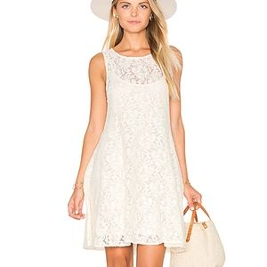 FREE PEOPLE Miles Of Lace Ivory Dress XS
